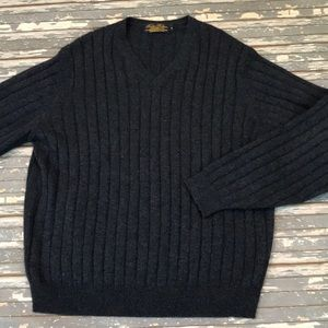 BrooksBrothers mens L Wool pullover sweater